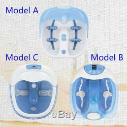 Portable Electric Foot Bath Massager Tub Spa Basin with Heated/ Vibration