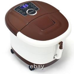 Portable Electric Foot Spa Bath Shiatsu Roller Motorized Massager