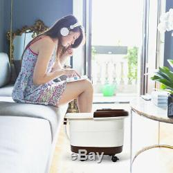 Portable Electric Foot Spa Bath Shiatsu Roller Motorized Massager Christmas Gift