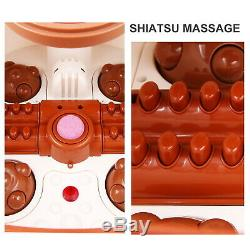 Portable Electric Foot Spa Bath Shiatsu Roller Motorized Massager Fast Heating