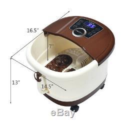 Portable Electric Foot Spa Bath Shiatsu Roller Motorized Relaxing Massager Home