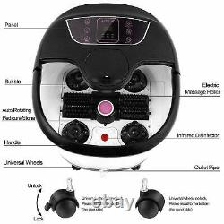 Portable Foot Spa Bath Massager Automatic Massage Rollers Heating Soaker Bucket