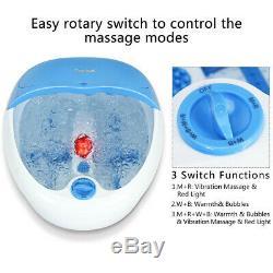Portable Foot Spa Bath Massager Bubble Vibration Heat Soaker Pedicure Home Gift