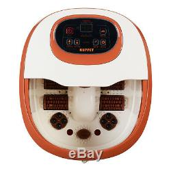 Portable Foot Spa Bath Massager Time/Tem Bubble Heat Vibration with8 Rollers