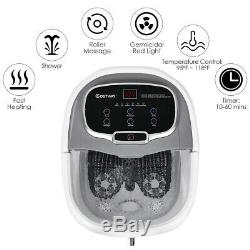 Portable Foot Spa Bath Motorized Massager Electric Feet Home Tub with Shower Grey