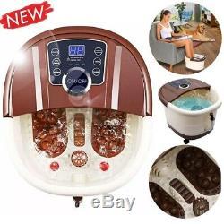 Portable Foot Spa Bath Motorized Massager Electric Feet Salon Tub Home Use