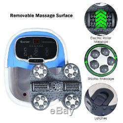 Portable Foot Spa Bath Motorized Massager Electric Feet Salon Tub with Shower Blue