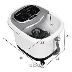 Portable Foot Spa Bath Motorized Massager Electric Feet Salon Tub with Shower Grey