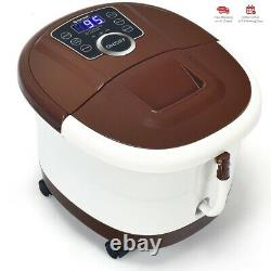 Portable Heated Electric Foot Spa Bath Roller Motorized Massager