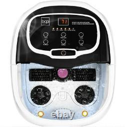 Portable Heated Shiatsu Foot Bath Massage Spa with Pumice Stone, Water Jets, Adjus