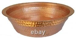 Portable Polished Copper Foot Rub Wash Massage Spa Relax Therapy Pedicure Bowl