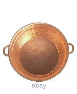 Portable Polished Copper Pedicure Bowl Foot Bath Wash Soaking Therapy Spa Beauty