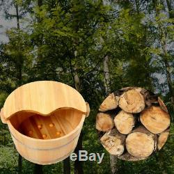 Practical Wood Foot Tub Bath Bucket With Cover for Foot Massage Spa Soaking