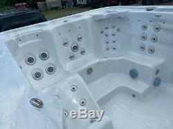 Pre-owned 13 Foot Barefoot Deluxe Swim Spa Hot Tub By Hawkeye Pristine Condition