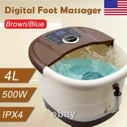 Pro Foot Spa Bath Massager with Heat Bubble Rollers Temperature Time Control