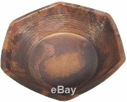 Rustic Hexagon Copper Foot Bath Wash Massage Spa Therapy Pedicure Bowls