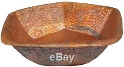 Rustic Pentagon Copper Foot Soak Bath Wash Massage Spa Therapy Pedicure Bowls