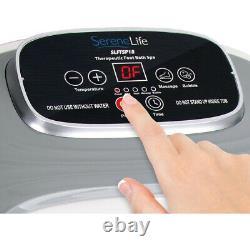 SereneLife SLFTSP18 Hydrotherapy Heated Shiatsu Foot Massage Spa Bath for Home