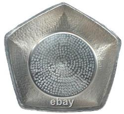 Ultra Light Weight Nickel Alloy Pentagon Foot Soaking Spa Therapy Pedicure Bowl