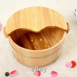 Vintage Wood Foot Basin Tub Bucket for Foot Bath Massage Spa Sauna Soak