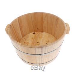 Vintage Wooden Foot Soak Bath Tub Spa Basin Footbath Bucket Soaker Bowl