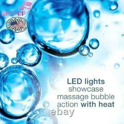 Waterfall Foot Pedicure Spa with Lights, Bubbles, Massage Rollers, Purple