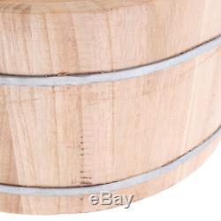 Wood Deep Wood Foot Spa Bath Basin Tub Feet Washing Warm Water Bucket Lid