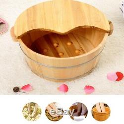 Wooden Foot Basin Tub Foot Soaking Bucket For Foot Bath Massage Spa