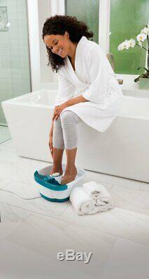 X Large Feet, Foot Spa Bath Massager Heat Soaker Massage Bubble Roller Deep Soak