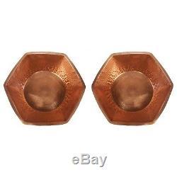 2 Base Hexagonale De Cuivre Bain De Pieds Massage Spa Spa Salon De Beauté Thérapie Pédicure Bol