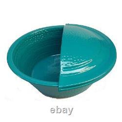 2 Léger Turquoise Metal Laver Les Pieds Spa Therapy Pedicure Bowls + 2 Repose-pieds