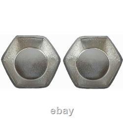 2 Poids Léger En Alliage De Nickel Hexagon Foot Tremping Spa Therapy Pédicure Bols