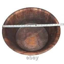 2pc 20 Copper Foot Bath Soak Therapy Massage Spa Hammered Copper Bowls Pédicure