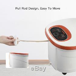 8 Rouleaux Portable Foot Spa Bain De Massage Temps / Tem Bubble Heat Vibration