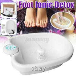Accueil Ionic Detox Foot Basin Bath Spa Cleanse Machine Relax Refresh Body Gift