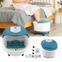 Acevivi Foot Spa Bain De Massage Avec Chaleur 16 Rouleaux Motorisés Massage Shiatsu