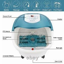 Acevivi Foot Spa Bain De Massage Avec La Chaleur Minuterie Motorisés Rouleaux De Massage Shiatsu