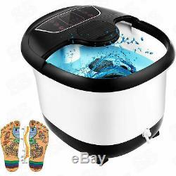 Acevivi Foot Spa Bain De Massage Avec Massage Rollers Chaleur Et Bulles Temp Timer, États-unis