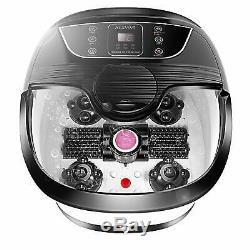 Acevivi Foot Spa Bain De Massage Bubble Affichage Led Chaleur Infrarouge Relax Minuterie