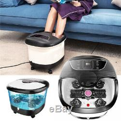 Acevivi Foot Spa Bain De Massage Bubble Affichage Led Chaleur Infrarouge Relax Minuterie Meilleure