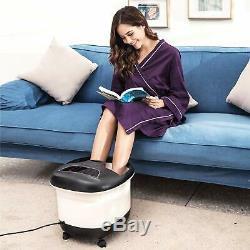 Acevivi Foot Spa Bain De Massage Bubble Affichage Led Chaleur Infrarouge Relax Timer Chaud