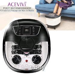 Acevivi Foot Spa Bain De Massage Bubble Heat Led Affichage Shiatsu Relax Minuterie