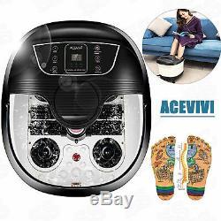 Acevivi Foot Spa Bain De Massage Bubble Heat Led Affichage Shiatsu Relax Minuterie Nouveau