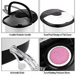 Acevivi Foot Spa Bain De Massage Bubble Heat Soaker Pédicure Vibration Faire Tremper Bain Ff