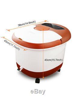 Acevivi Foot Spa Bain De Massage Bubble Heat Soaker Vibration Pédicure Tremper Bain
