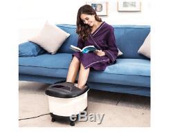 Acevivi Foot Spa Bain De Massage Chauffant Et Massant Et Pédicure Bubble Jet