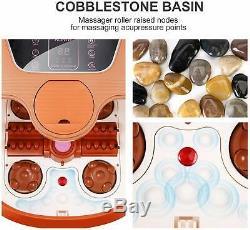 Acevivi Foot Spa Bain De Massage Shiatsu Chaleur Bubble Motorisé Rouleau Réglable