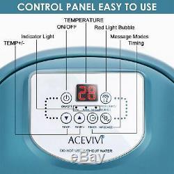 Acevivi Foot Spa Bain De Massage Temp / Time Set Heat Bubble Automne Vibration Eau