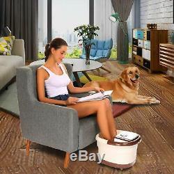 Acevivi Foot Spa Bain Motorisé De Massage Avec La Chaleur, Conversion De Fréquence, Rouge LI