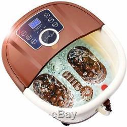 Acevivi Foot Spa Bain Motorisé Massage Avec Chaleur Temps Et Température Réglable